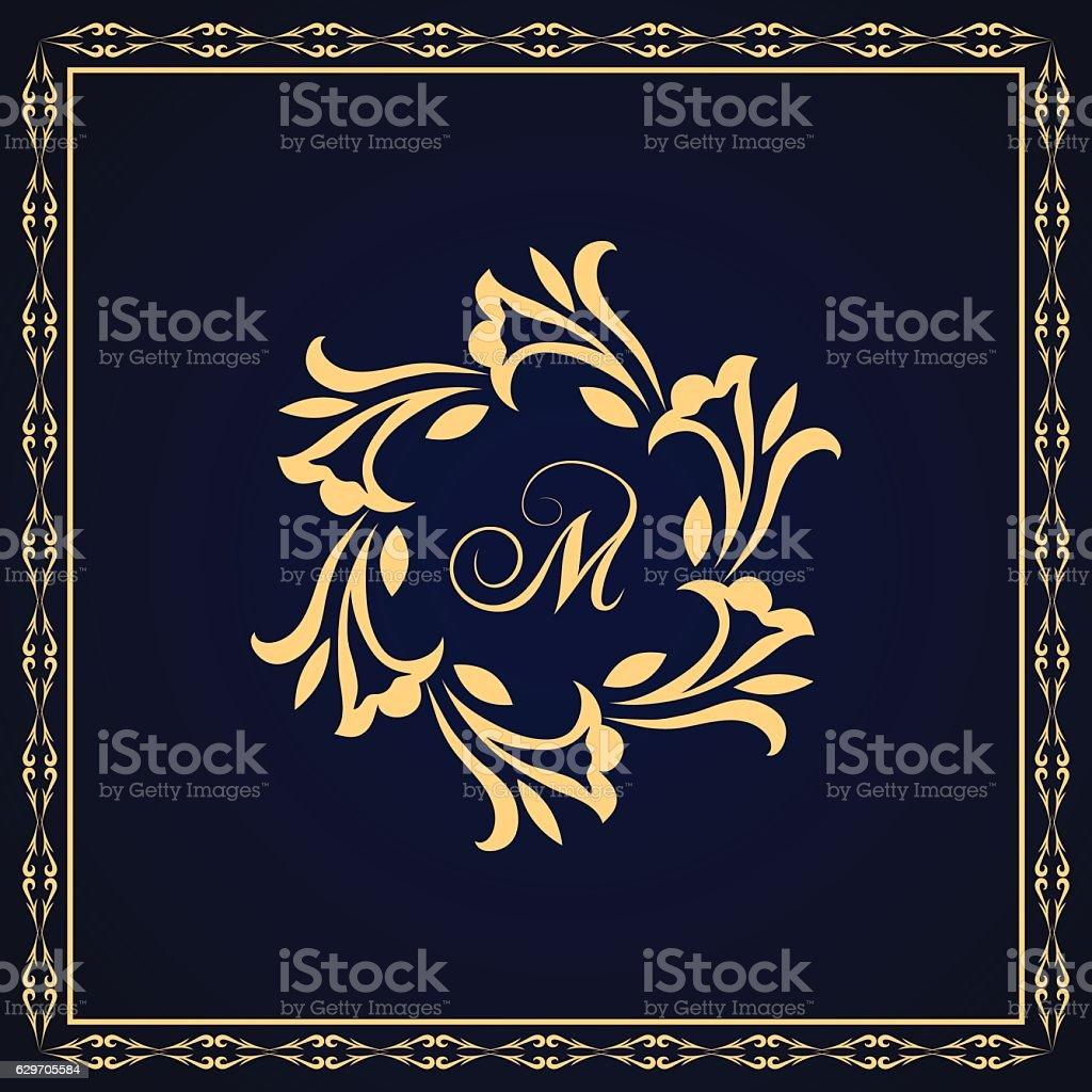 Single Line Letter Art : Monogram design graceful template elegant business emblem