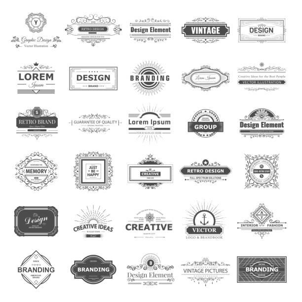 monogramm-design - hausgemacht stock-grafiken, -clipart, -cartoons und -symbole