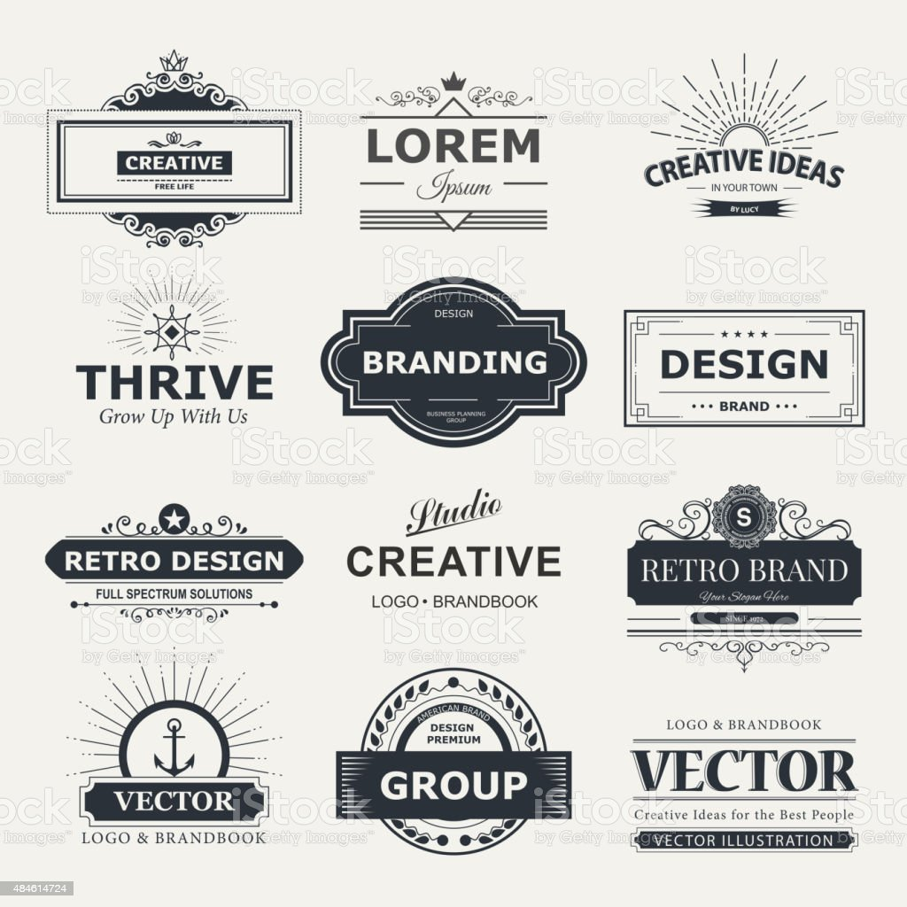 Monogramm-design – Vektorgrafik