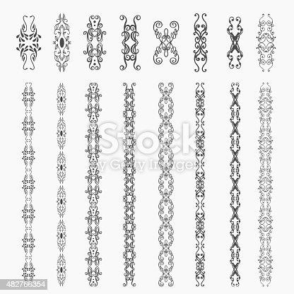 Monogram  luxury  template with flourishes calligraphic elegant ornament elements. Decorative borders, frame, chain, whorl, crest.