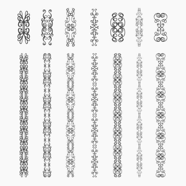 monogram  elements - gothic fashion stock illustrations, clip art, cartoons, & icons