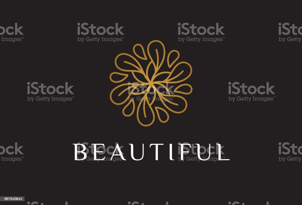 Monogram Flower Symbol Template Design Vector Emblem Design Concept