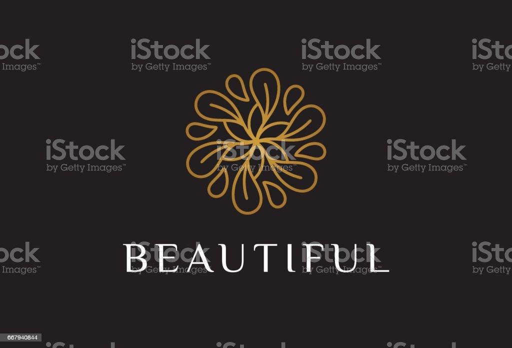 Monogram fleur symbole Template Design vecteur, emblème, Concept Design, créatif symbole, icône - Illustration vectorielle