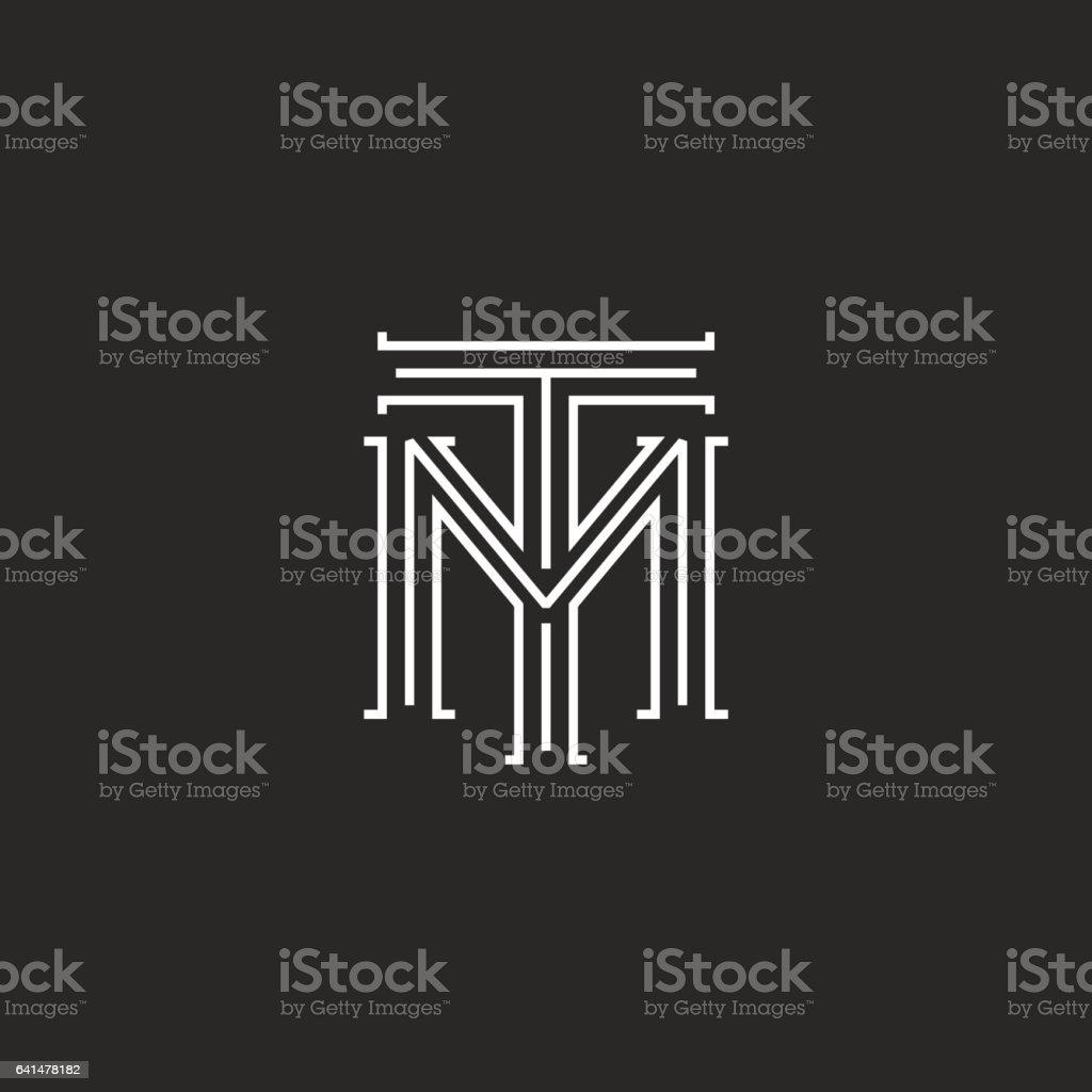 Monogram hipster initials tm logo letters connection t m letters monogram hipster initials tm logo letters connection t m letters royalty free monogram hipster initials buycottarizona