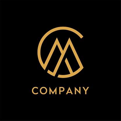 Monogram / Initials CM or MC design inspiration