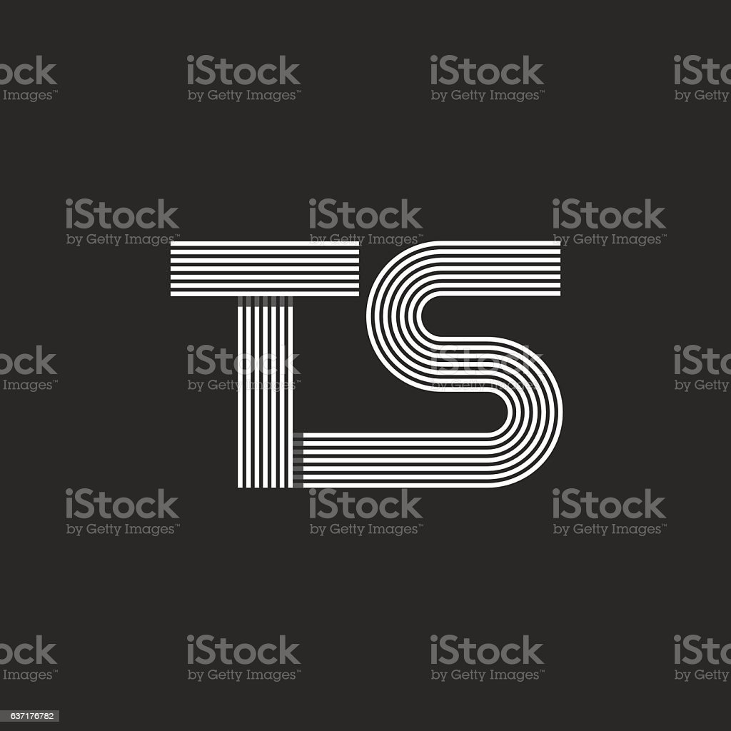 Monogram letters ts logo combination two letter t and s stock monogram letters ts logo combination two letter t and s royalty free monogram letters biocorpaavc