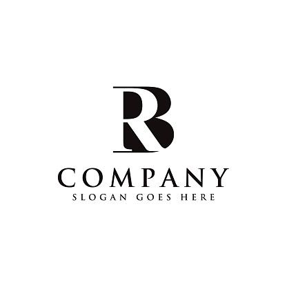 RB BR monogram logo icon template