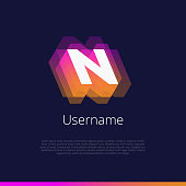 N, monogram logo.
