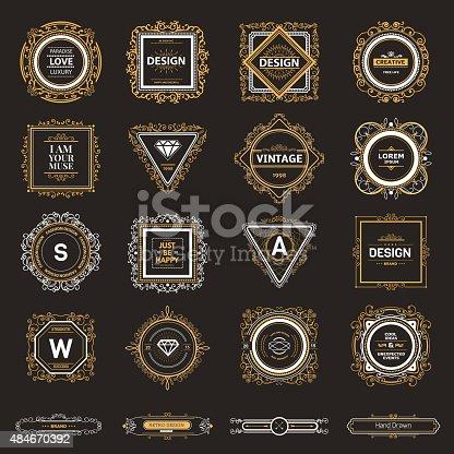 Monogram  luxury template with flourishes calligraphic elegant ornament elements. Luxury elegant design for cafe, restaurant, bar, boutique, hotel, shop, store, heraldic, jewelry, fashion