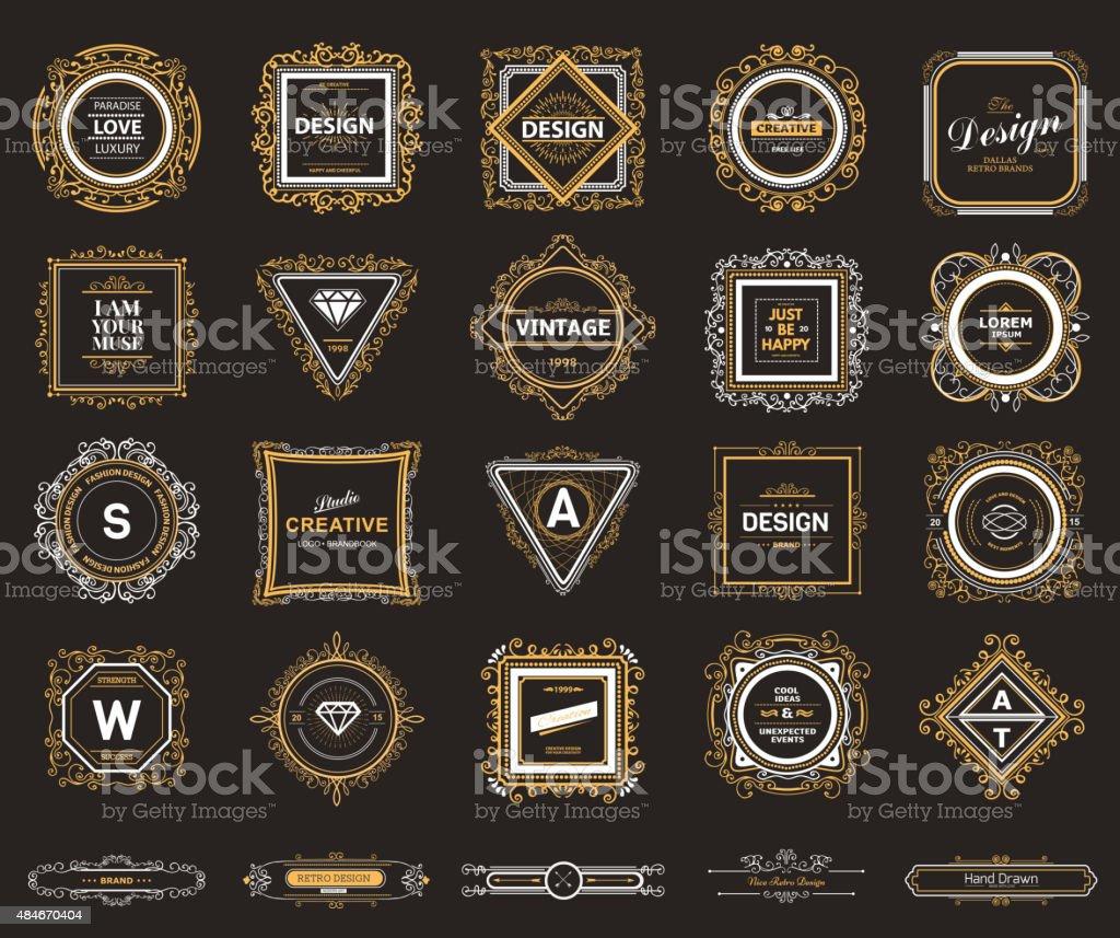 Monogram  luxury template vector art illustration