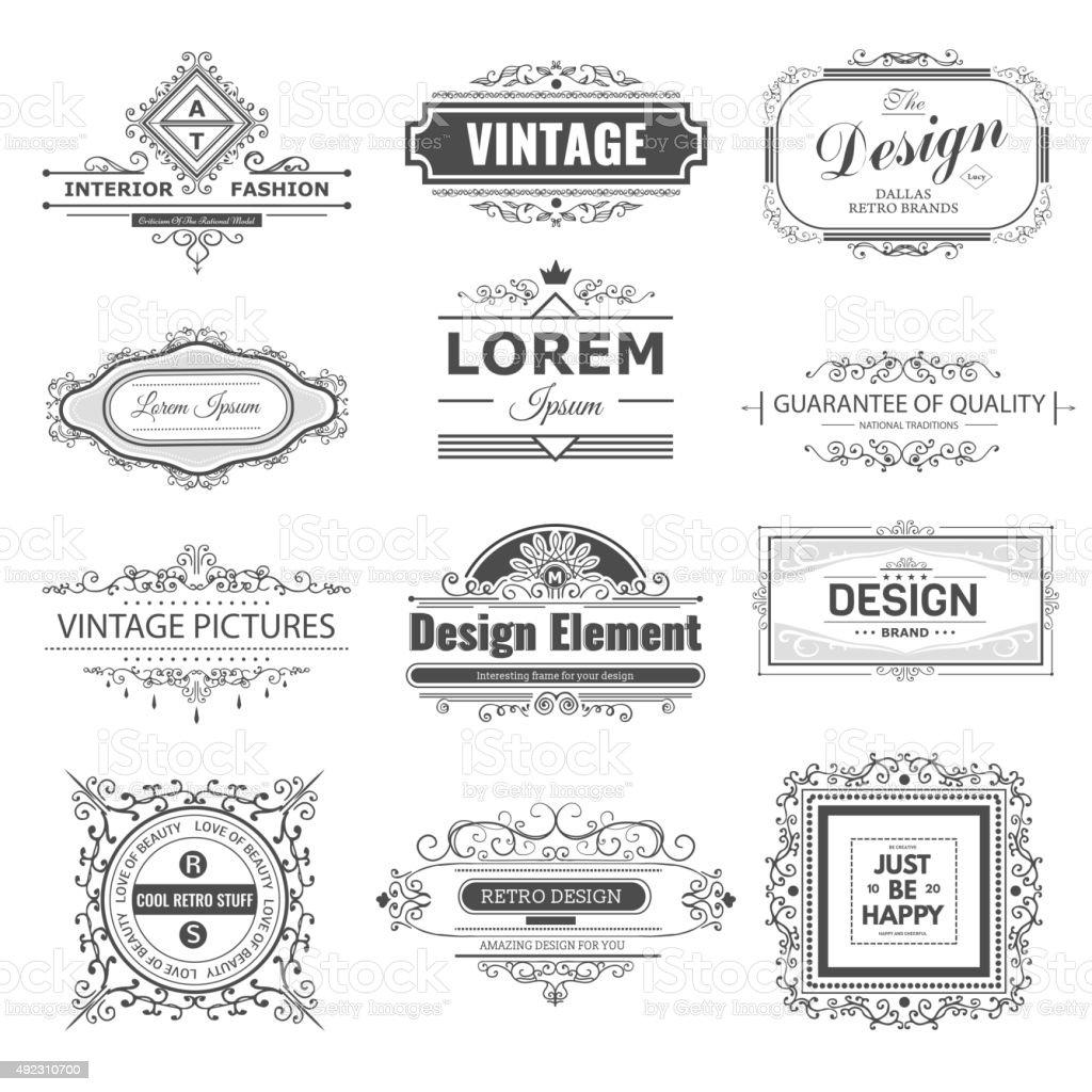 Monogram luxury vector art illustration