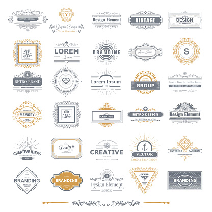 Monogram  luxury  template with flourishes calligraphic elegant ornament elements. Luxury elegant design for cafe, restaurant, boutique, hotel, shop, store, heraldic, jewelry, fashion