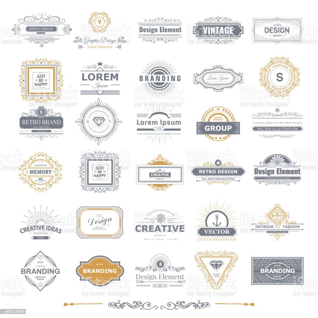 Monogramme de luxe - Illustration vectorielle