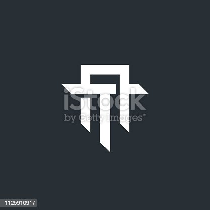 AT. Monogram of Two letters A & T. Luxury, simple, minimal and elegant AT logo design. Vector illustration template.