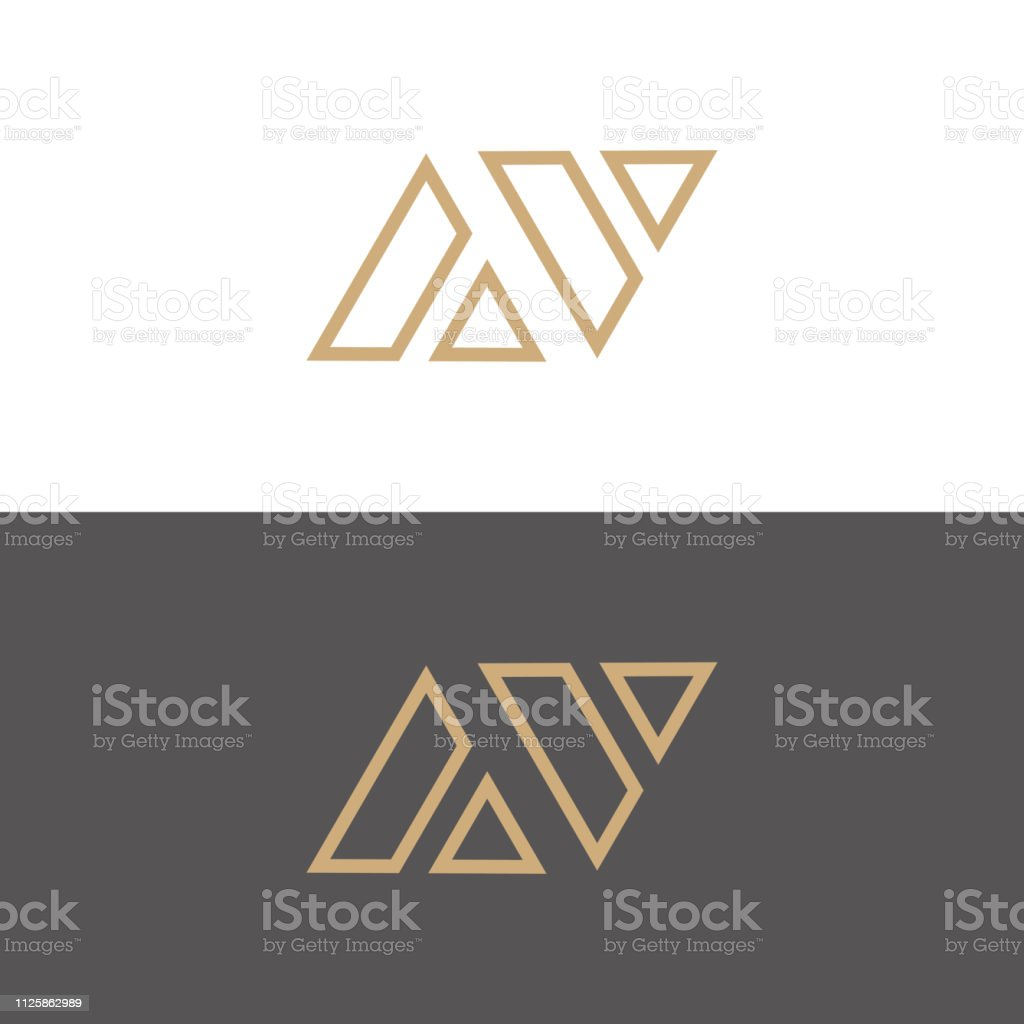 AV. Monogram of Two letters A & V . Luxury, simple, minimal and...
