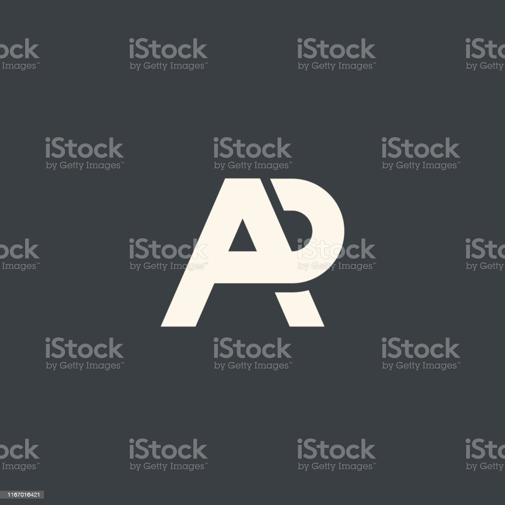 AR. Monogram of Two letters A&R. Luxury, simple, minimal and elegant...