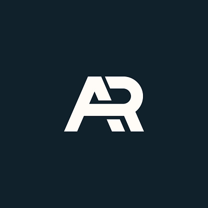 AR. Monogram of Two letters A&R. Luxury, simple, minimal and elegant AR logo design. Vector illustration template.