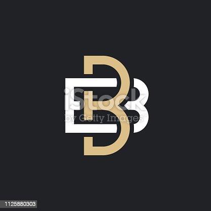 BB. Monogram of Two letters B&B. Luxury, simple, minimal and elegant BB logo design. Vector illustration template.