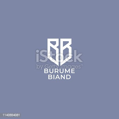 BB. Monogram of Two letters B&B . Luxury, simple, minimal and elegant BB symbol design. Vector illustration template.