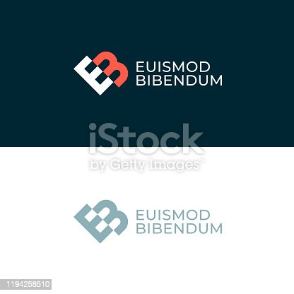 istock EB. Monogram of Two letters E&B. Luxury, simple, minimal and elegant EB logo design. Vector illustration template. 1194258510