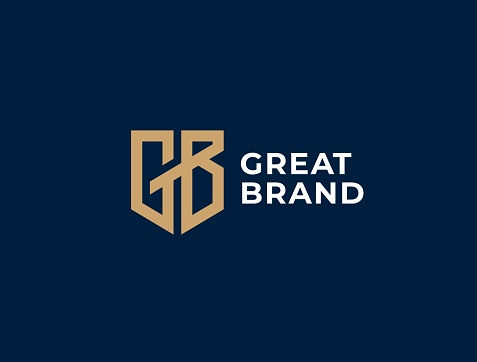 Monogram of two letters GB. Vector template. G&B sign design template.