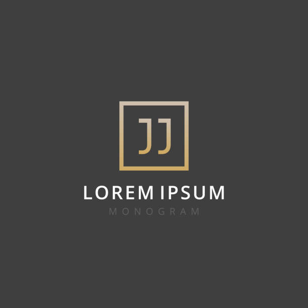 JJ. Monogram of Two letters J & J . Luxury, simple, minimal and elegant JJ logo design. Vector illustration template. JJ. Monogram of Two letters J & J . Luxury, simple, minimal and elegant JJ logo design. Vector illustration template. letter j stock illustrations
