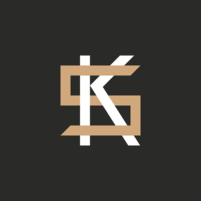 Monogram of Two letters K&S or S&K.