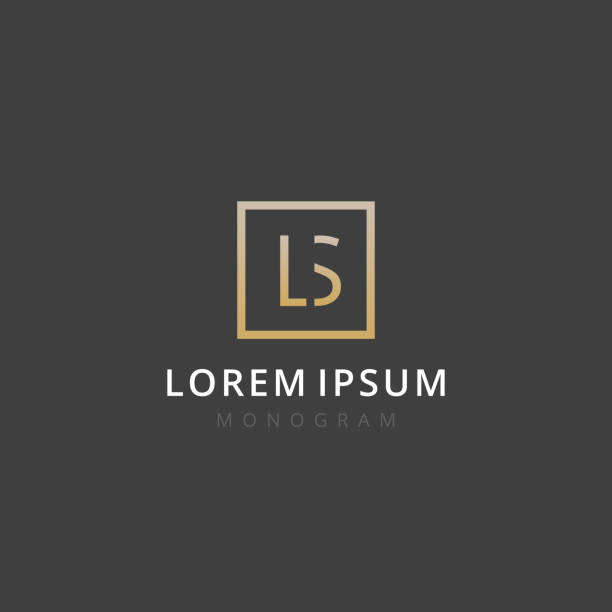 LS. Monogram of Two letters L & S. Luxury, simple, minimal and elegant LS logo design. Vector illustration template. LS. Monogram of Two letters L & S. Luxury, simple, minimal and elegant LS logo design. Vector illustration template. letter l stock illustrations