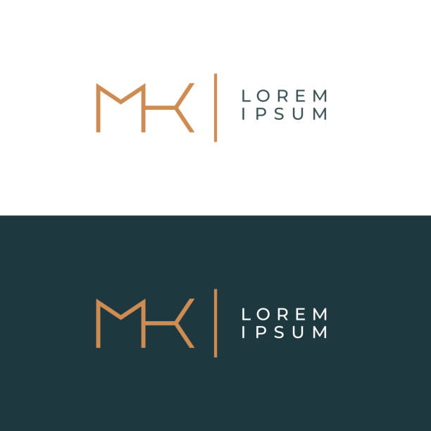 MK. Monogram of Two letters M & K. Luxury, simple, minimal and elegant MK logotype design. Vector illustration template. MK. Monogram of Two letters M & K. Luxury, simple, minimal and elegant MK logotype design. Vector illustration template. k logo illustrations stock illustrations