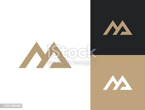 istock Monogram of two letters MA. Vector template. M&A sign design template. 1220289462