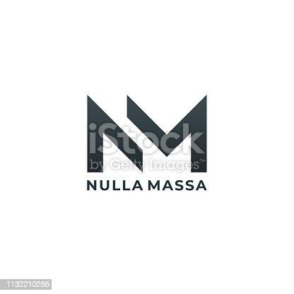 istock NM. Monogram of Two letters N & M. Luxury, simple, minimal and elegant NM emblem design. Vector illustration template. 1132210255