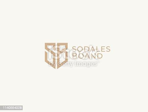 istock SB. Monogram of Two letters S&B . Luxury, simple, minimal and elegant SB symbol design. Vector illustration template. 1140554028