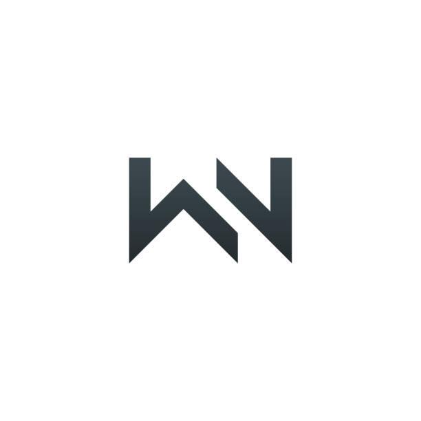 WN. Monogram of Two letters W & N . Luxury, simple, minimal and elegant WN logotype design. Vector illustration template. WN. Monogram of Two letters W & N . Luxury, simple, minimal and elegant WN logotype design. Vector illustration template. w logo stock illustrations