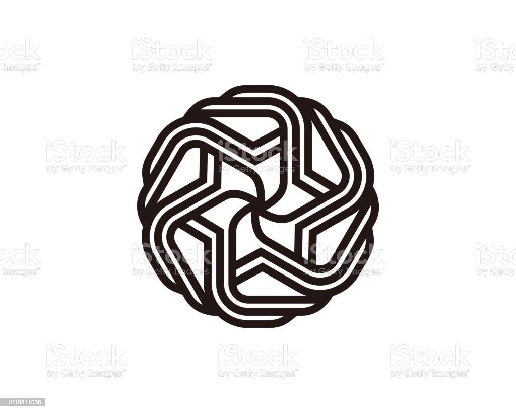 monogram template design vector emblem concept design creative