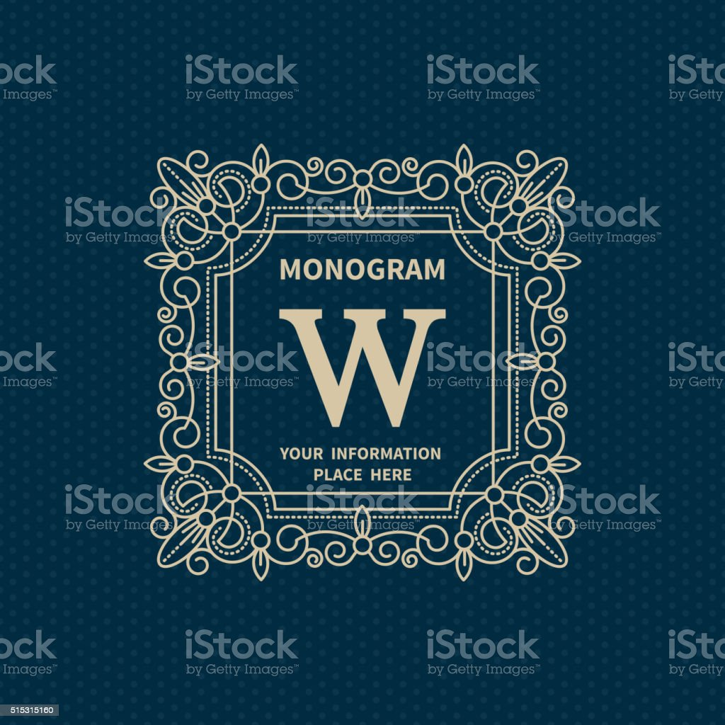 monogram template stock vector art more images of art 515315160