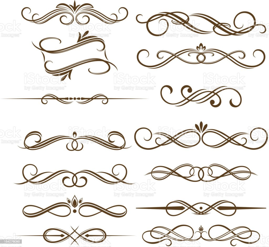 Monograms and dividers royalty-free stock vector art