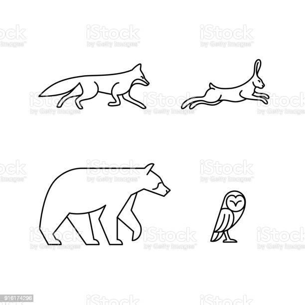 Monoline animals vector id916174296?b=1&k=6&m=916174296&s=612x612&h=21k3qrmsaccy8jsvwqpnhddzwwf5zlpxoqffch6wqyw=