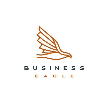 Monoline Eagle icon - Vector illustration stock illustration Phoenix - Arizona, USA, Falcon - Bird, Logo, Icon