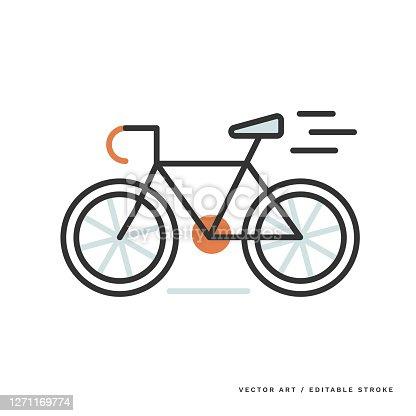 istock Monoline Icon — Bicycle 1271169774