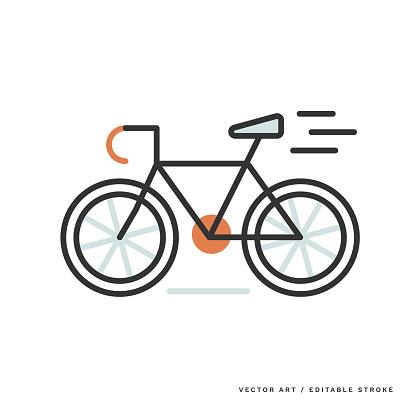 Monoline Icon — Bicycle