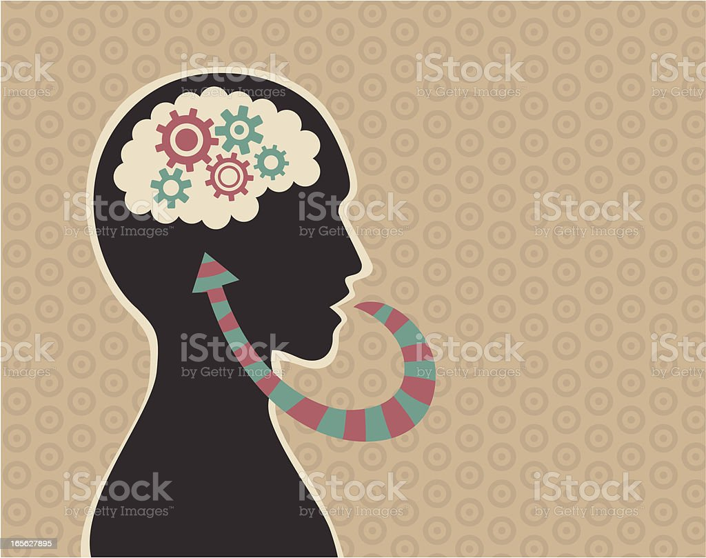 Monologue A  man talking to himself. Adult stock vector