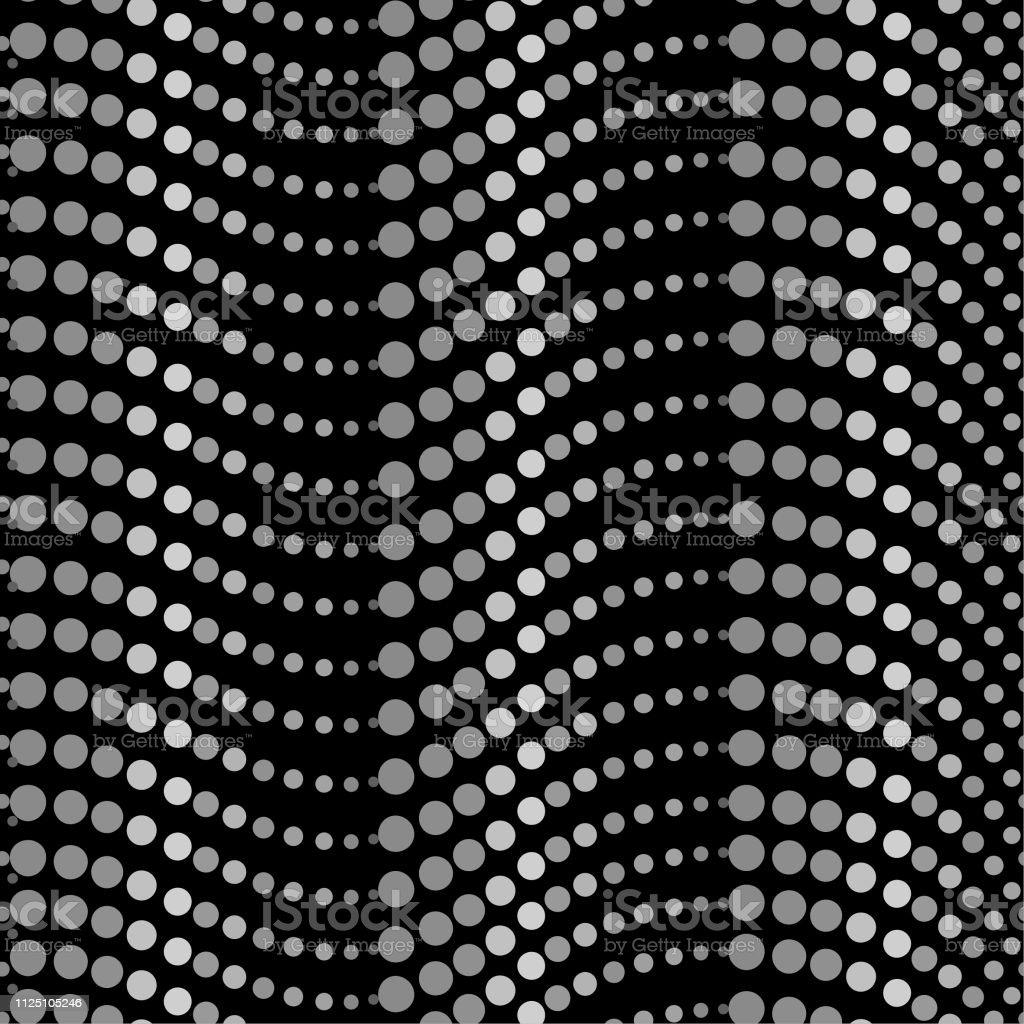 モノトーンの黒とグレーのシームレス パターン カラフルなコントラストのファッションファブリックweb壁紙およびすべての印刷ハーフトーン水玉デザイン イラストレーションのベクターアート素材や画像を多数ご用意 Istock