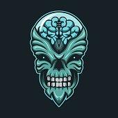 monster alien vector illustration  for your company or brand