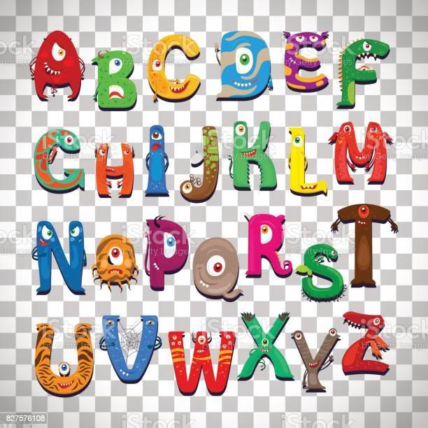 Monster alphabet on transparent background vector id827576108?b=1&k=6&m=827576108&s=612x612&h=2bzhcgjiaznwxhahtqupsytu3gmfyp 2cj8djievz8q=