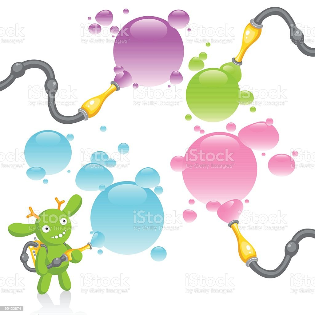 monster and bubbles royalty-free stock vector art
