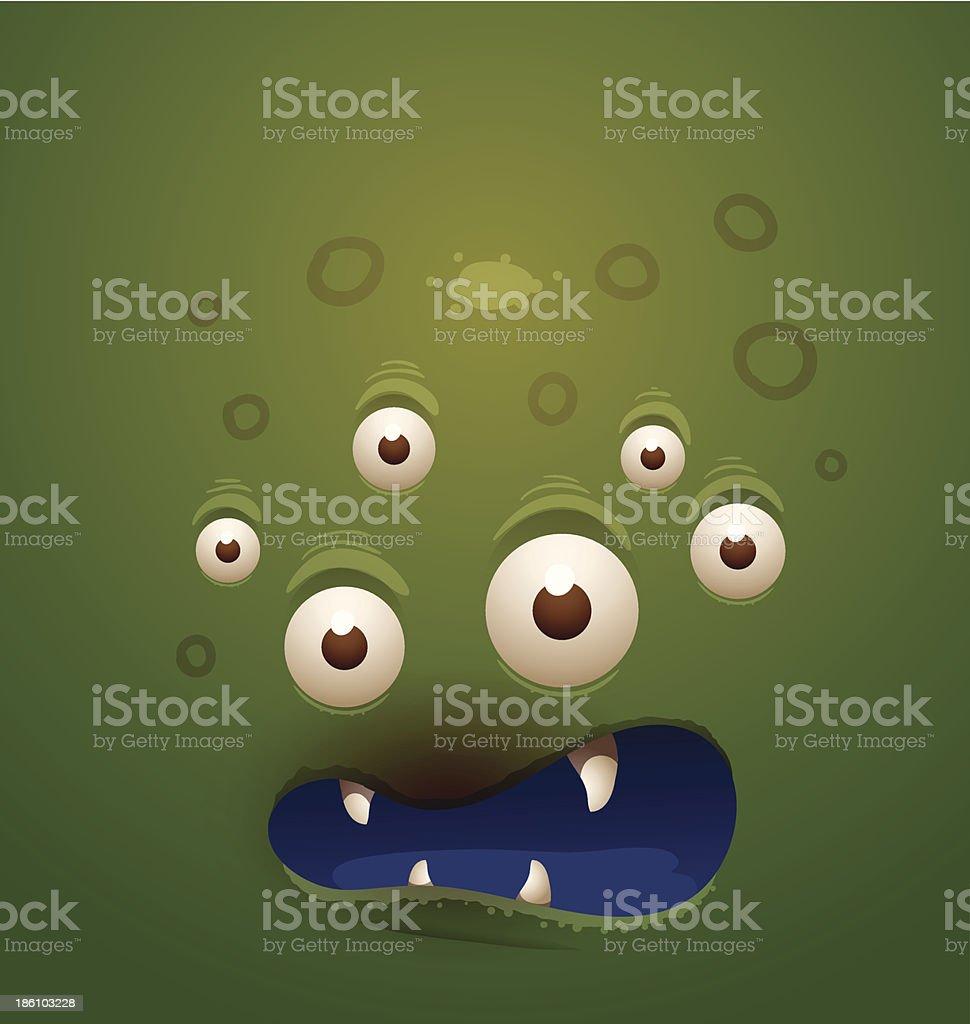 Monster background green royalty-free stock vector art