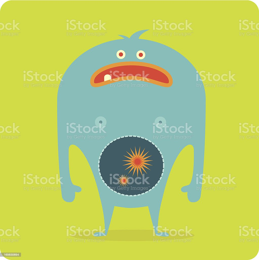 Monster Bellyache royalty-free monster bellyache stock vector art & more images of beauty
