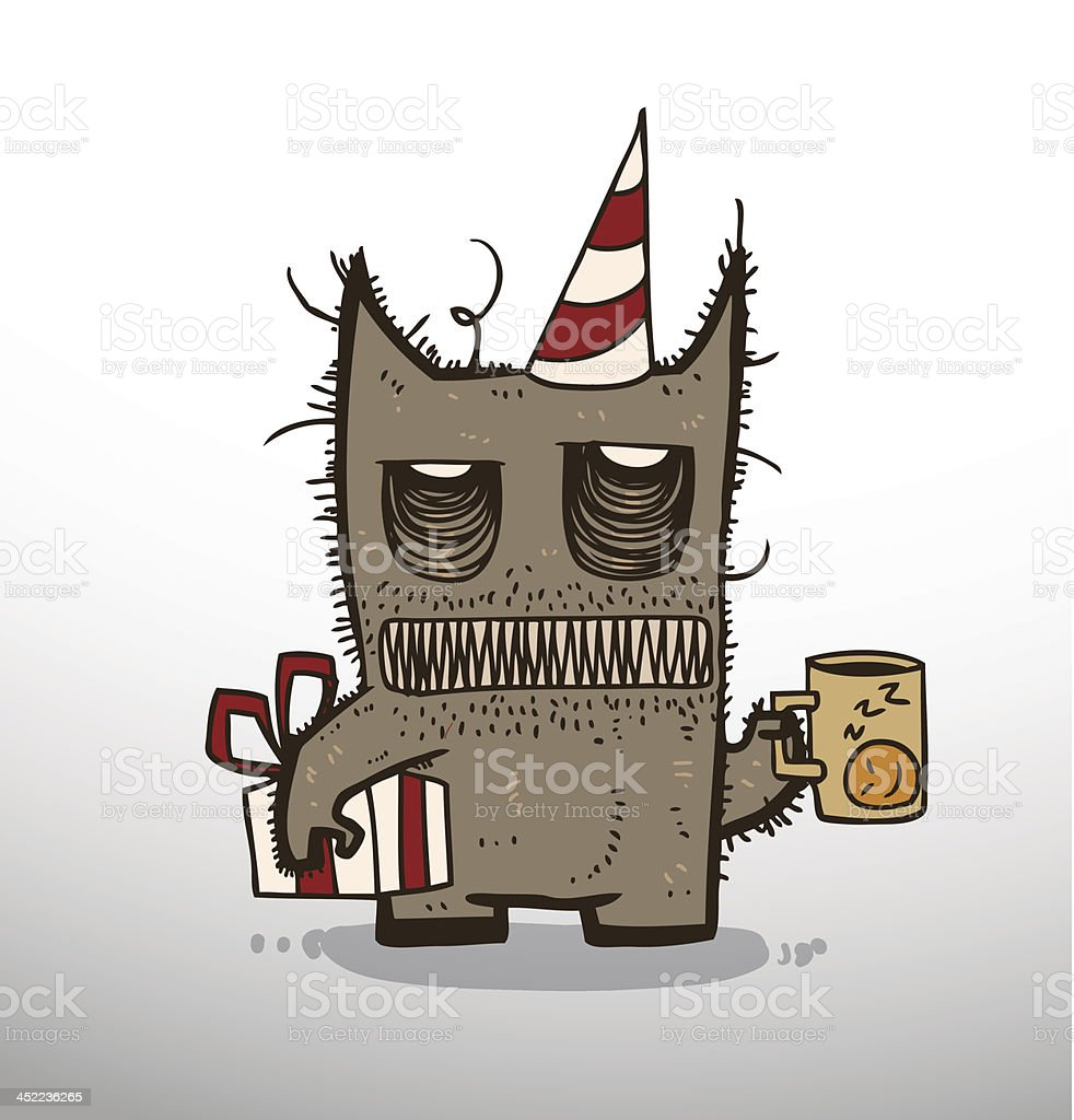 Monster birthday with a gift royalty-free monster birthday with a gift stock vector art & more images of alien