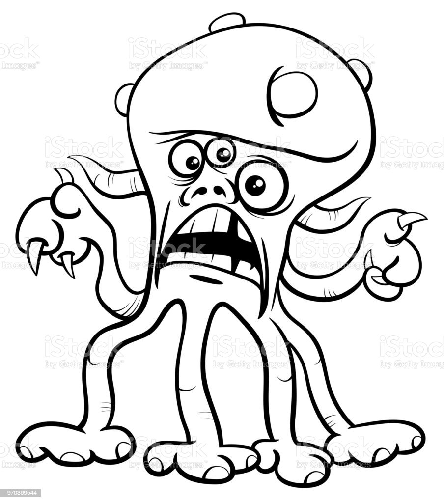 - Monster Cartoon Character Coloring Book Stock Illustration