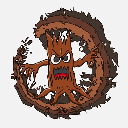 monster characters wood